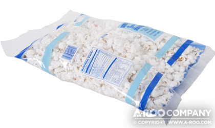 Popcorn Packaged in a Form Fill and Seal Bag