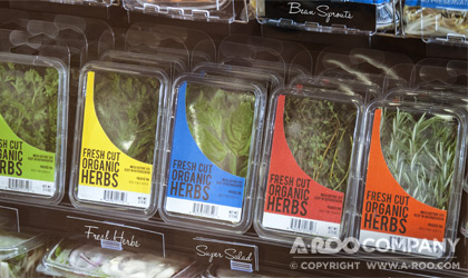 Clamshell Packaging for fresh cut herbs at retail