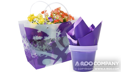 Purple Two Pack Gift Tote™ paired with Purple Simplicity™ DLS Sheet and Purple Tradizione™ Over Pot
