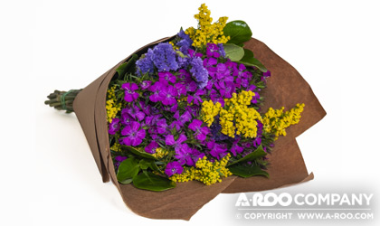 Natural Kraft Paper Bouquet Sheets give an upscale trendy appearance