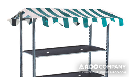 Flower buck cart with canopy